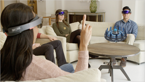 Microsoft Hololens 1 hologram