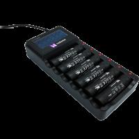 Ersatzakku (6er-Pack) + 6 Akku Multi-Ladegerät