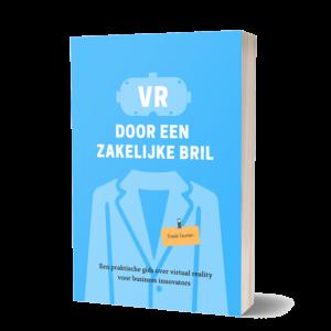 Boek-VR door een zakelijke bril