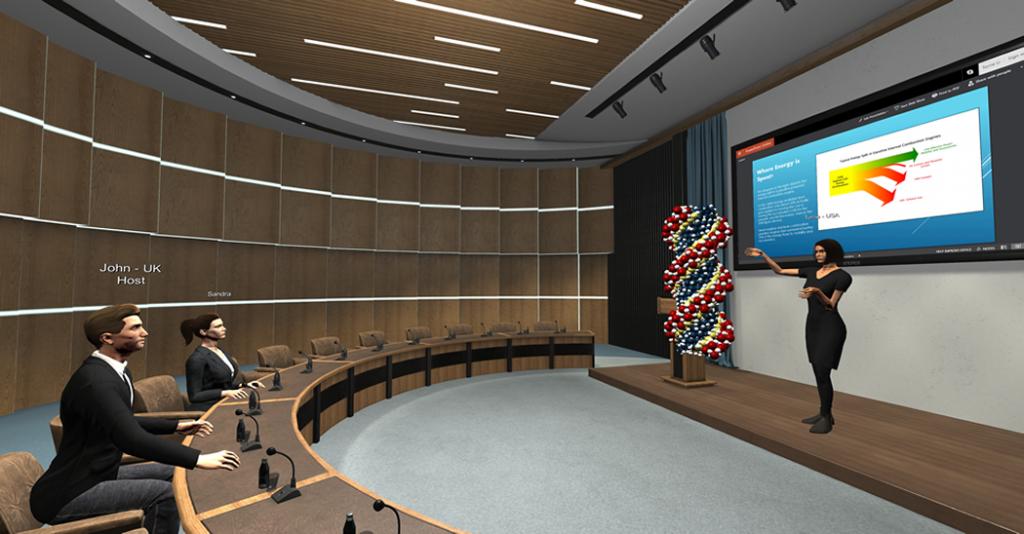 presentatie in VR